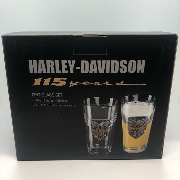 Harley Davidson 115th Anniversary Shot Glass Birthday Gift